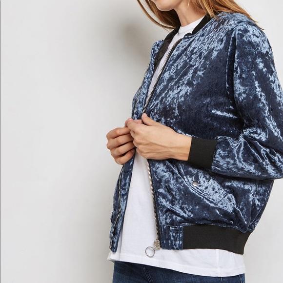 Listicle Jackets & Blazers - Gorgeous Blue velvet jacket